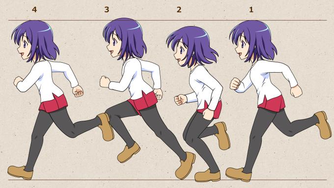 キャラクターが走るアニメの作り方
