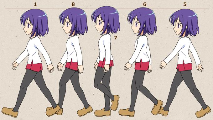キャラクターが歩くアニメの作り方 アニメづくり